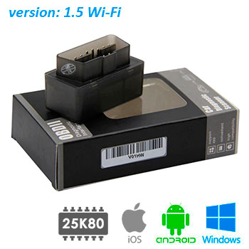 Автосканер ELM327 v1.5 WiFi PIC18F25K80 New version