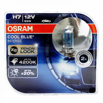 Лампа Галогенні OSRAM LINE H7 12V 55W COOL BLUE DUO