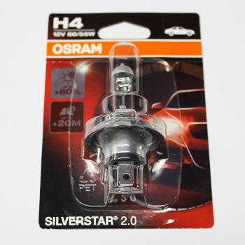 Лампа головного світла OSRAM H4 12V 60/55W SILVERSTAR