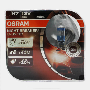 Лампа Галогенні OSRAM LINE H7 12V 55W NIGHT BREAKER